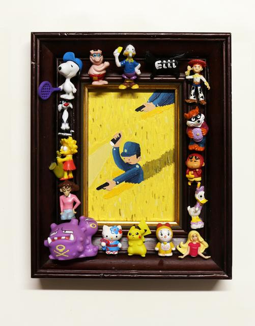 Imon Boy, 'El Poli', 2019, Painting, Acrylic on panel, La Causa Gallery