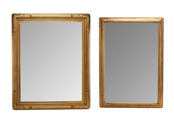 Two Vintage Gilded Frames With Mirrors