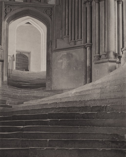 , ''A Sea of Steps', Wells Cathedral, Steps to Chapter House,' 1903, Atlas Gallery