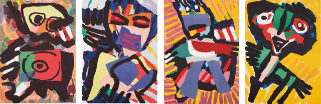 Karel Appel, 'Four figural prints', ca. 1973, Phillips