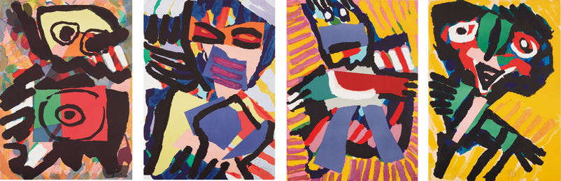 Karel Appel, 'Four figural prints,' ca. 1973, Phillips: Evening and Day Editions (October 2016)
