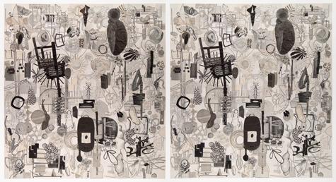, 'Centrifuge E, Centrifuge W (diptych),' 2013, Pavel Zoubok Gallery