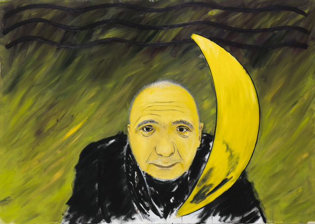 , 'A man with the moon (The portrait of A. Monastyrski),' 2014, Vladey