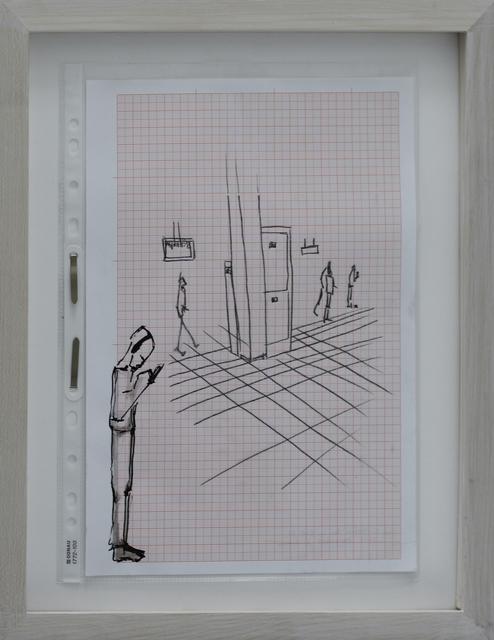 , 'Manuskript / Informationsfilter (@S-Bahn),' 2014, Galerie Krinzinger
