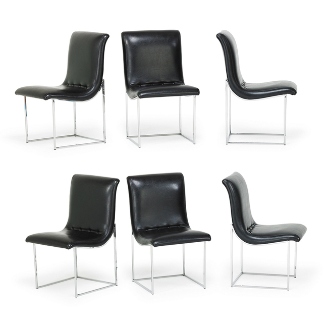 Milo Baughman, 'Six Dining Chairs, NC', 1980s, Rago/Wright