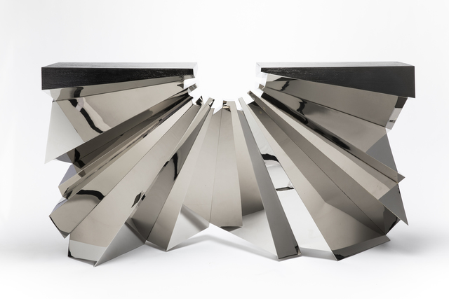 , 'Aristas Console in Nickel Plated metal and Anthracite,' 2016 -2017, Garrido Gallery