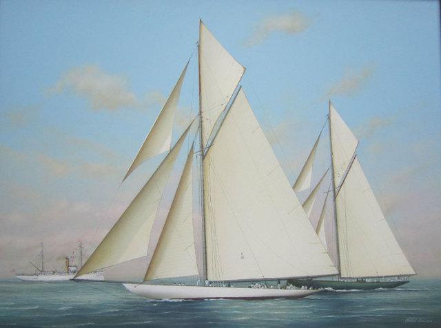 , 'Start of the Race, Columbia & Shamrock II, 1901,' 2018, J. Cacciola Gallery