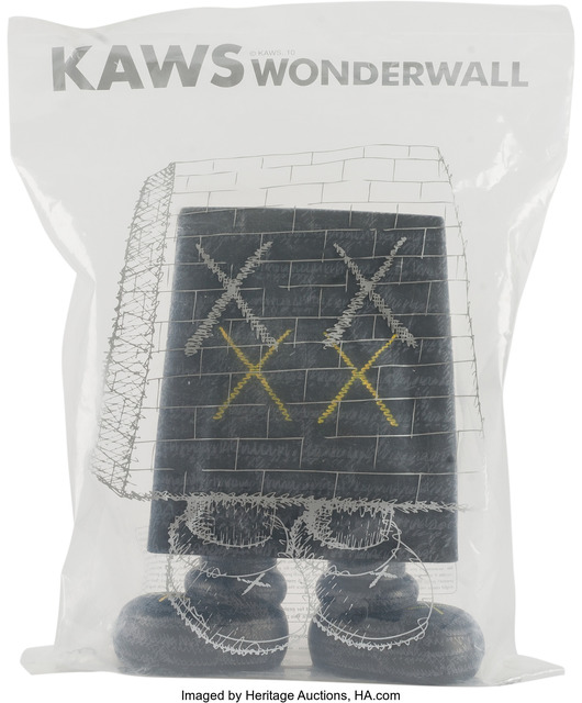 KAWS, 'Wonderwall (Black)', 2010, Other, Painted cast vinyl, Heritage Auctions
