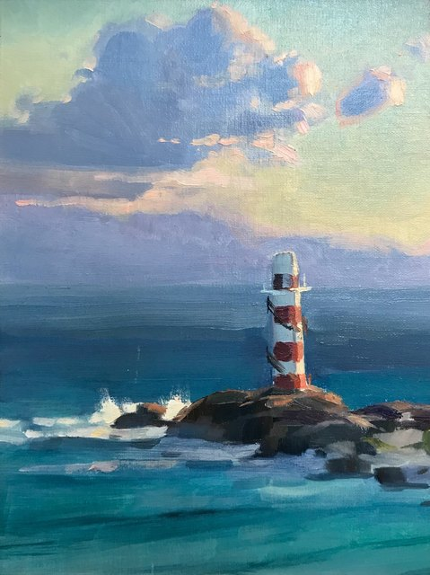 Kathleen Hudson, 'Lighthouse at Sunrise', ca. 2018, Copley Society of Art