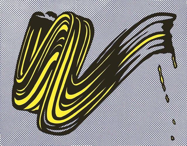 Roy Lichtenstein, 'Brushstroke Castelli Gallery mailer', 1965, MSP Modern