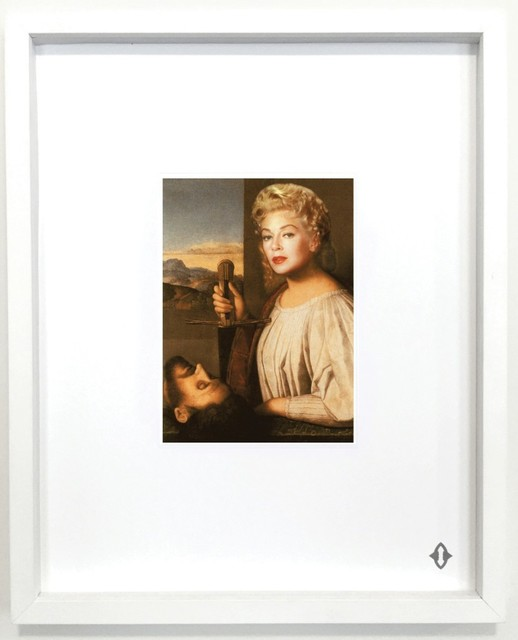"""Francesco Vezzoli, 'QUEEN OF SWORDS, From the series """"Contemporary Magic: A Tarot Deck Art Project"""" Limited Edition 5th Anniversary Print Collection', 2015, Print, Museum archival digital print embossed with high gloss spot lacquer finish / framed 20 × 16 in 50.8 × 40.6 cm Edition 1/7 + 3AP, ART CAPSUL"""