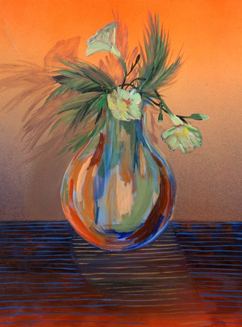 , 'Morning Glories with Orange,' 2017, HATHAWAY | Contemporary Gallery