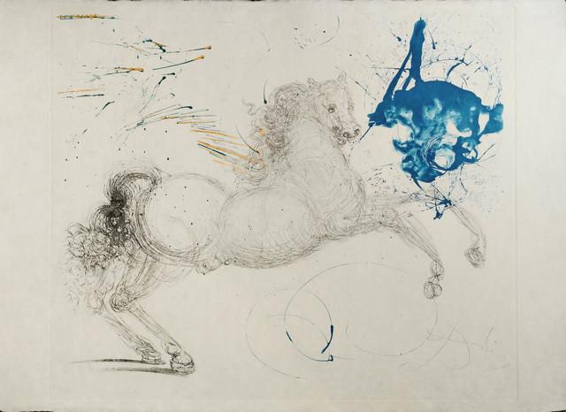 Salvador Dalí, 'Pegasus', 1964, Print, Drypoint with aquatint on Japon nacré, Galerie d'Orsay