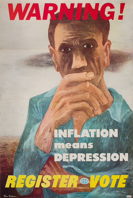 Ben Shahn, 'Warning! Inflation means Depression ', n.d., DC Moore Gallery