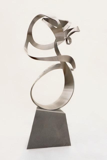 David Guzmán, 'La realidad es siempre como la pintan', 2018-2019, Sculpture, Stainless steel forge and volcanic enclosure, Baga 06 Art Gallery