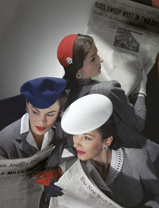 Horst P. Horst, 'Hats by Best, Lord and Taylor and Mme Pauline, Gloves by Dawnelle', 1943, Bernheimer Fine Art