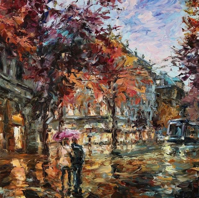 Lyudmila Agrich, 'Rainy Walk', 2019, SmithKlein Gallery