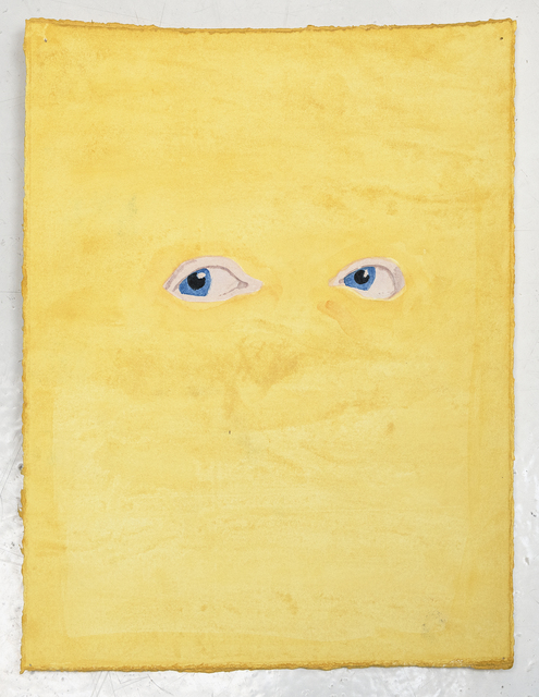James Rielly, 'Yellow eyes', 2020, Painting, Watercolour on paper, Alzueta Gallery