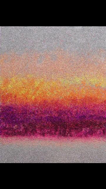 Camomile Hixon, 'Martian Dawn ', 2018, Painting, Glitter on board, MvVO ART