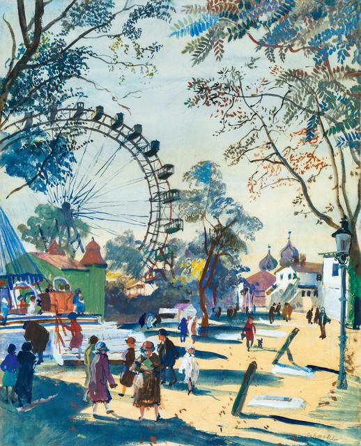 , 'Wiener Prater and the Ferris Wheel,' ca. 1930, Galerie Kovacek & Zetter
