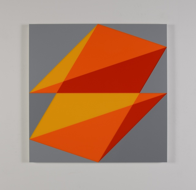 , 'Composition in 2016 Yellow, 2119 Orange, 2662 Red and 3001 Gray,' 2015, Miller Yezerski Gallery