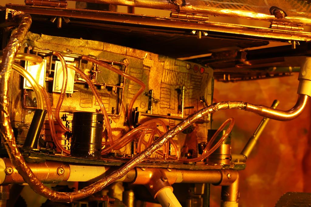 "Installation shot, close detail of the ""Impression"" Rover in Mare Tenebrarum"