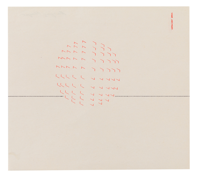 , 'Typestract 180469,' 1969, Richard Saltoun