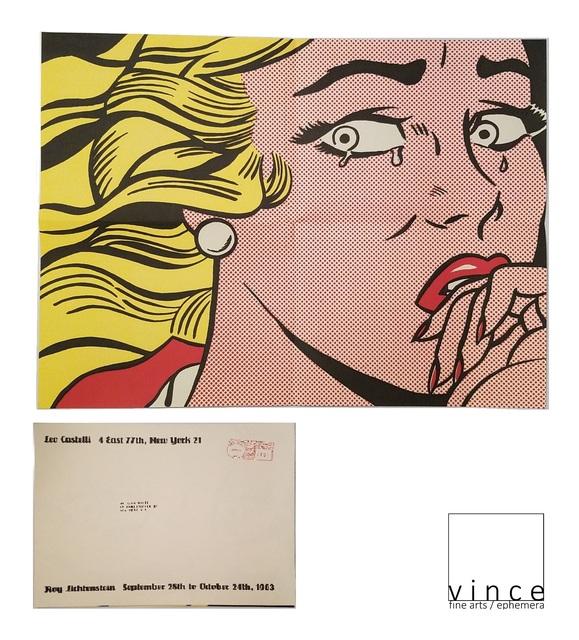 ", '""Crying Girl"", 1963, Exhibition Invite/Poster, Leo Castelli Gallery NY,' 1963, VINCE fine arts/ephemera"