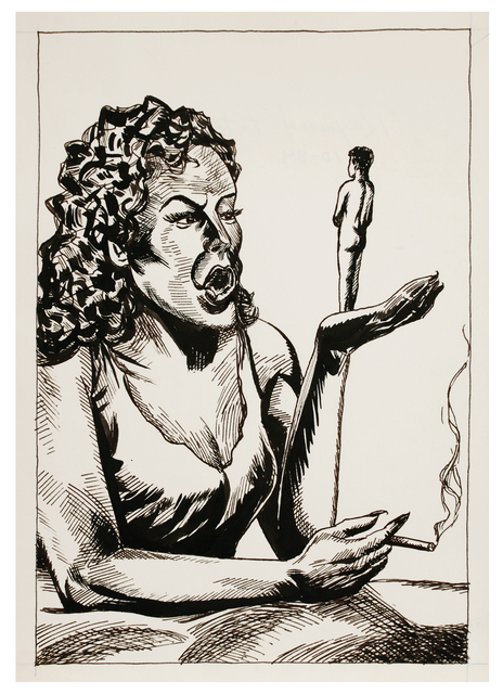 Raymond Pettibon, 'Untitled', 1984, Drawing, Collage or other Work on Paper, Ink on paper, Brooke Alexander, Inc.