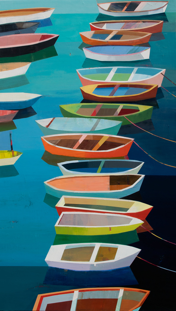 , 'Colorful Boats in the Bay #25,' 2019, Patricia Rovzar Gallery