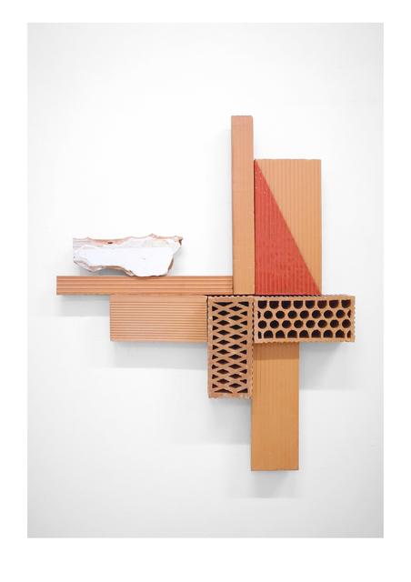 Oscar Abraham Pabon, 'Arte y Artesanía IV', 2019, Sculpture, 7 red clay bricks with ceramic enamel and rubble, Baró Galeria