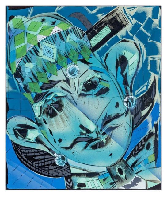 "Lari Pittman, '""Self-determination #3"" (blues)', 2017, ICA London"