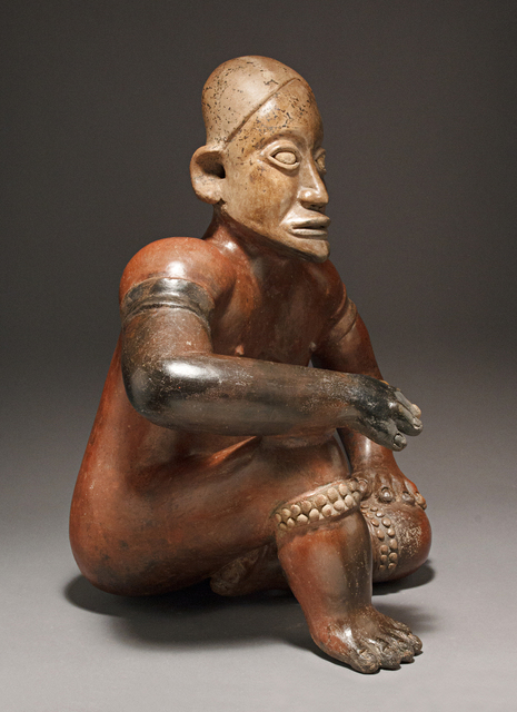 , 'JALISCO SEATED FIGURE OF A WRESTLER,' ca. 100 B.C. -A.D. 250, Colnaghi