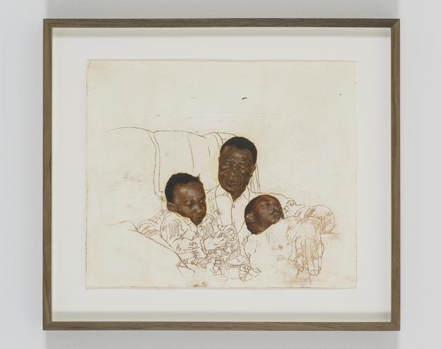 , 'Portrait of Chiedza Chikanza, Sekuru Misheck Cornelius Chikanza and Tunga Chikanza,' 2018, Tyburn Gallery