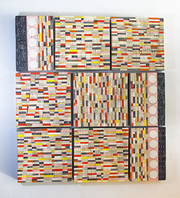 , 'SUNSET STRIPED CERAMIC QUILT,' 2016, Tansey Contemporary