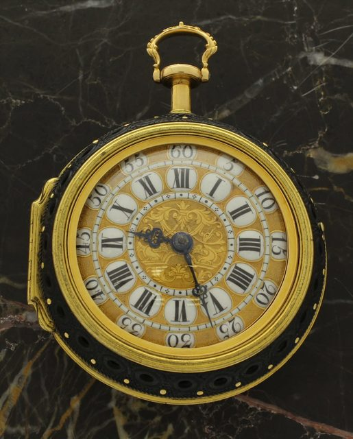, 'Triple cased, repoussé, half quarter repeating verge watch ,' ca. 1750, Somlo London