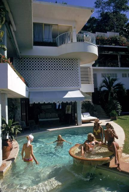 Slim Aarons, 'Pool At La Barranca', 1972, IFAC Arts
