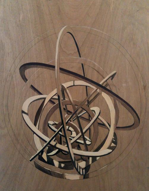 , 'Fragmentos curvos sobre madera nº9,' 2014, Espacio Mínimo