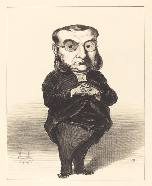 Honoré Daumier, 'Ath. L. Charles Coquerel', 1849, National Gallery of Art, Washington, D.C.