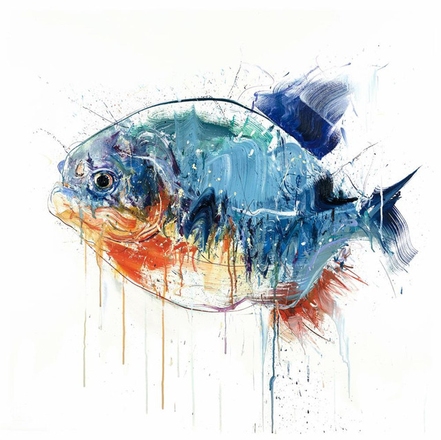 Dave White, 'Piranha - Large', 2018, Print, Giclée print on paperr, Hang-Up Gallery