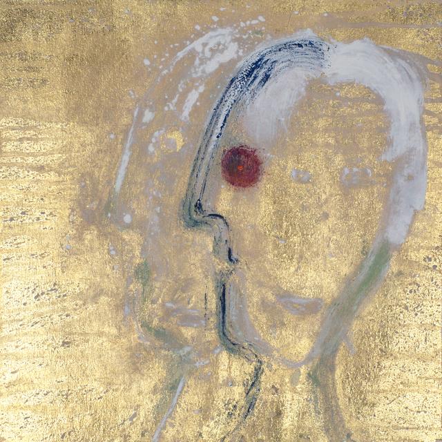 , 'Gesicht (Goldgrundiger, Viergesicht),' 2018, Galerie Valentien
