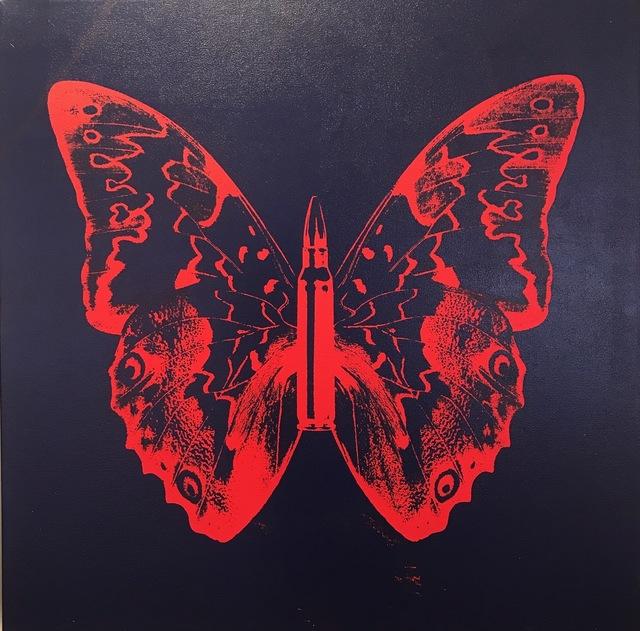 , 'Butterfly II (Blood orange on dark blue),' 2016, Octavia Art Gallery