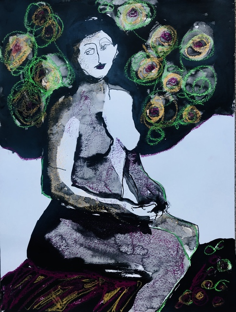 , 'Figure with Rosettes ,' 2017, Gallery 4 West