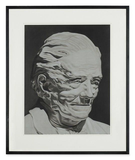 Richard Phillips, 'OLD GRANDDAD', 2000, Drawing, Collage or other Work on Paper, Charcoal and chalk on paper, Andrea Festa Fine Art