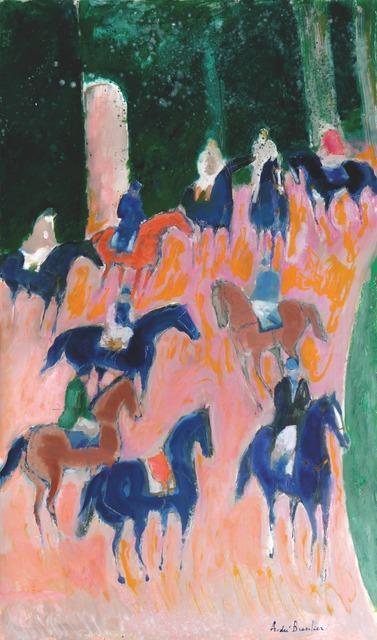 , 'Halte des cavaliers à Loupeigne,' 2015, Opera Gallery