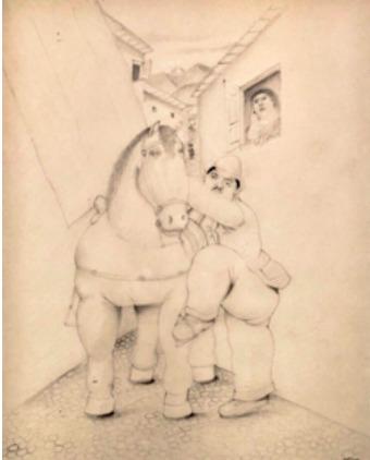 Fernando Botero, 'Homme et cheval', ca. 1980, Mirat