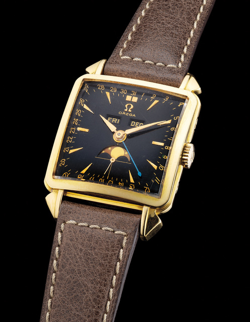 Omega A Rare And Fine Yellow Gold Square Wristwatch With
