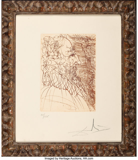 Salvador Dalí, 'El Greco, from Five Spanish Immortals', 1965, Print, Etching on Rives paper, Heritage Auctions