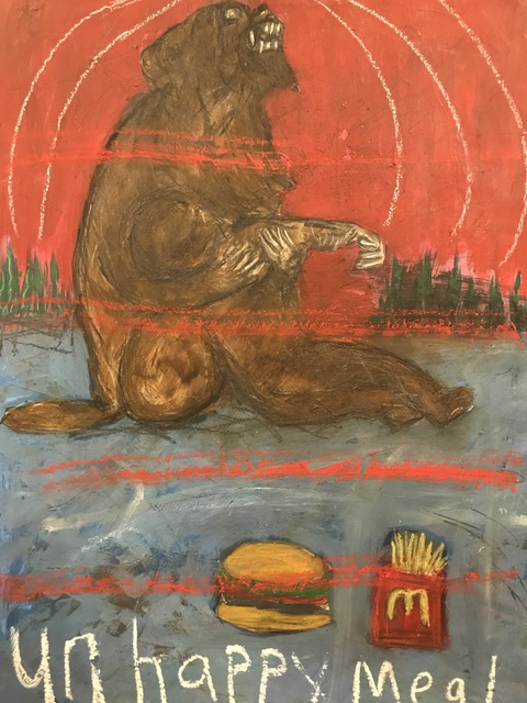 Morrison Pierce, 'The last cheeseburger in hell (monkeys)', 2019, The Secret Gallery