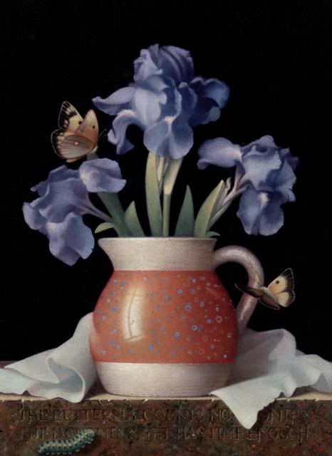 Koo Schadler, 'Blue Irises and Butterflies', 2018, J. Cacciola Gallery